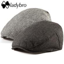 Ladybro ผู้ชาย Newsboy ไอริช Tweed Ivy หมวกแบนหมวกฤดูใบไม้ร่วงฤดูหนาวหมวกขนสัตว์ 30% หมวกผู้หญิง Visor หมวกกระดูกชาย