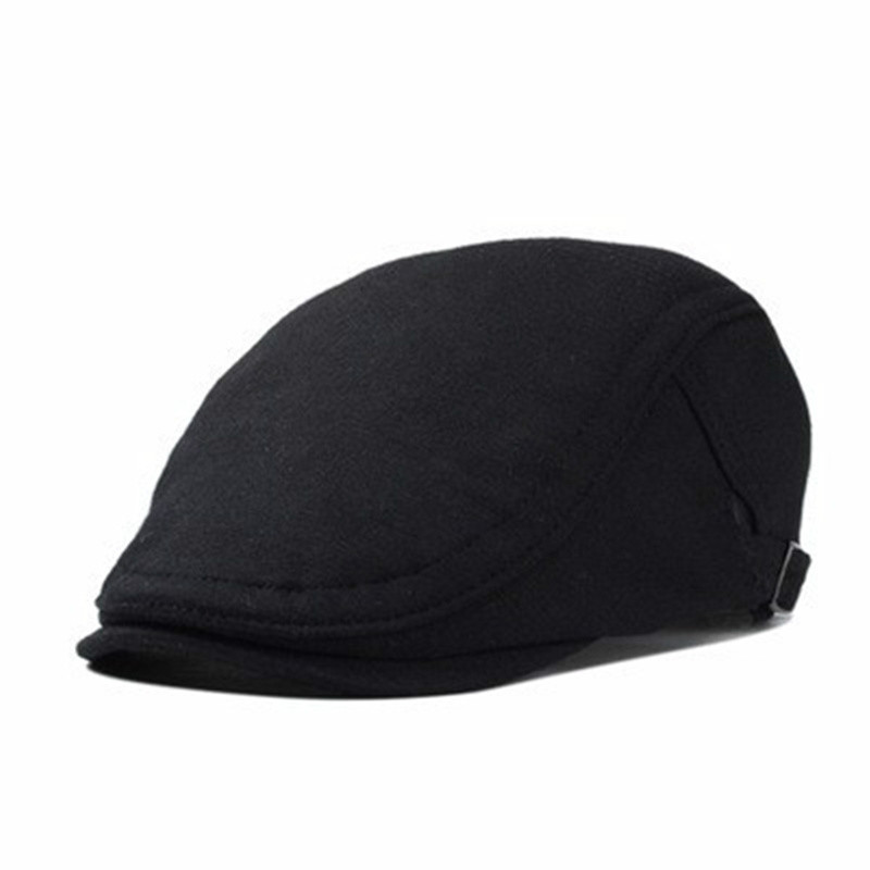VORON 2017 New Fashion Male Flat Cap Leisure Men Newsboy Hat Winter Chapeau Gentleman Leather Beret