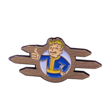 Fallout Equestria stable tech logo badge Vault boy gamer retro collection(China)