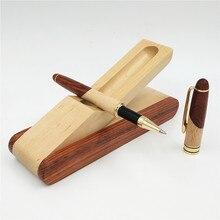 Manufacturer Mahogany Parquet Signature Pen Set Parquet Pen with Box Creative Craft Gift Stationary Supplies