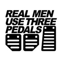 Real Men Use Three Pedals car stickers 5