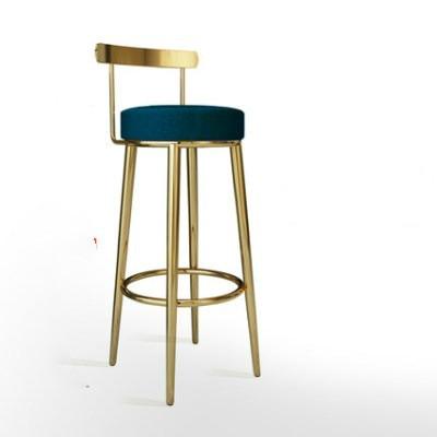 Customizable  Nordic Bar Chair Bar Stools Cashier Stools Backrest Barstool Home Simple High Chair Fashion Creative Dining Chair