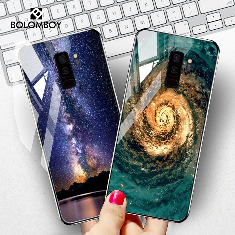 Tempered <font><b>Glass</b></font> <font><b>Case</b></font> For <font><b>Samsung</b></font> S10 S10e Plus Lite <font><b>Case</b></font> Star Space Cover For <font><b>Samsung</b></font> <font><b>M30S</b></font> S8 S9 Note 8 10 Plus Pro Phone <font><b>Cases</b></font> image