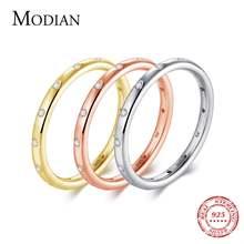 Modian 100% Настоящее Стерлинговое Серебро 925 пробы штабелируемое