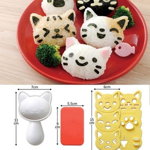 1 Set Cute Smile Cat Sushi Rice Mold Decor Cutter Sandwich DIY Tool Japanese Rice Ball Christmas Tree Halloween Pumpkin Molds(China)