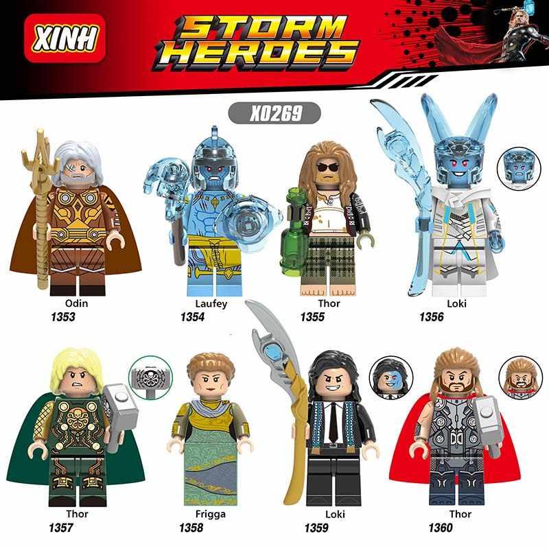 Singola Vendita Compatibile Marvel EnlightenEnlighten Avengers Laufey Thor Loki Frigga Mattoni Blocchi di Giocattoli Regalo Di Natale X0269