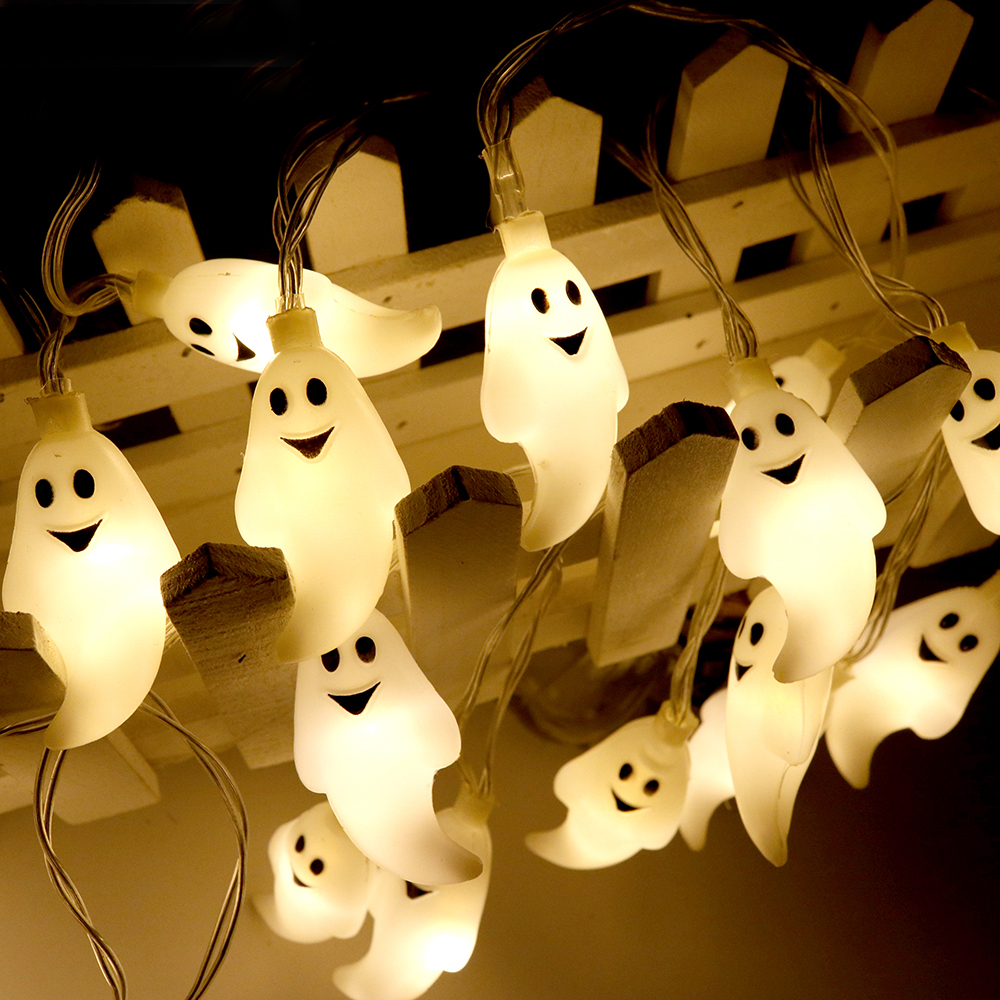 1.2M 10LED Halloween Ghost LED String Lights Luces De Navidad Lamp Battery Operated For Home Holiday Outdoor Party Decorative