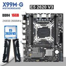 Kllisre X99 האם סט עם Xeon E5 2620 V3 LGA2011 3 מעבד 2pcs X 8GB = 16GB 2666MHz DDR4 זיכרון