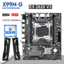 Kllisre X99マザーボードxeonで設定E5 2620 V3 LGA2011 3 cpu 2個 × 8ギガバイト = 16ギガバイト2666mhz DDR4メモリ