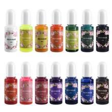 Pigment liquide en résine époxy, 14 couleurs, 10ml, bricolage manuel, Kit d'outils de coloration, bombe de bain, colorants pour la fabrication de savon