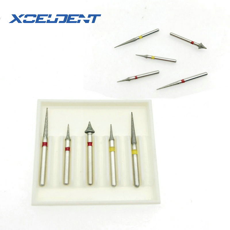5pcs/set Dental High Speed Diamond Burs Orthodontic Interproximal Enamel Set Dentist Tools Dental Lab Matreial New