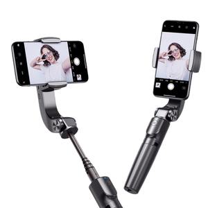 Handheld Gimbal Phone Stabilizer Selfie Stick Tripod Anti-Shake Foldable Extension Rod for Live Streaming Video Recording Vlog