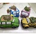 레트로 자동차 화분 크리 에이 티브 가든 식물 즙이 많은 재배자 마이크로 조경 데스크 선인장 식물 냄비