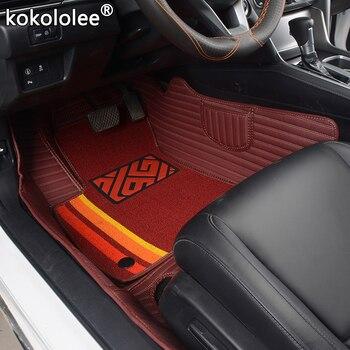 kokololee Custom Car Floor Mats For volvo s40 xc60 xc40 c30 xc90 s60 v40 c70 s80 s90 v50 xc70 v60 v90 xc-classic Double foot mat