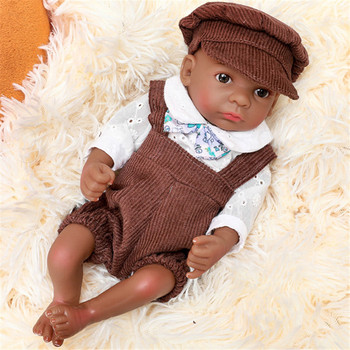Full Body Silicone Baby Dolls Girl Black Reborn Babies Dolls Cute Baby Doll Realistic Babies Toddlers For Newborn Baby Toys wholesale 23 fashion doll reborn babies full silicone vinyl newborn dolls blonde wig baby toys for princess birthday gifts