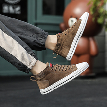 2019 Men Casual Shoes Lightweight Comfortable Breathable Walking Sneakers Zapatillas Hombre Trend leather *30015