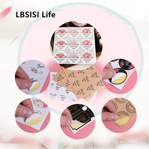LBSISI Life 100pcs Hand Made Seal Paper Sticker For Christmas Wedding Candy Cookie Packing Bag Box DIY Decorative Accessories(China)