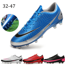 Shoes Soccer Football-Boots Training Outdoor Women Black Sliver Ag/fg-Sole High-Ankle
