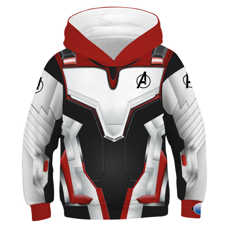 Marvel Hooide Kids 3D Printed The Avenger Endgame Superhero Hoodies For Girls Boys Sweatshirt Children Tracksuit Pullovers Tops
