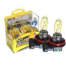 Adeeing 2PCS 12V 100W Car Lights Super White Light/Golden Light 3000K/6000K Aurora Halogen Lamp H1 H3 H4 H7 H8 H11 9005 9006 880(China)