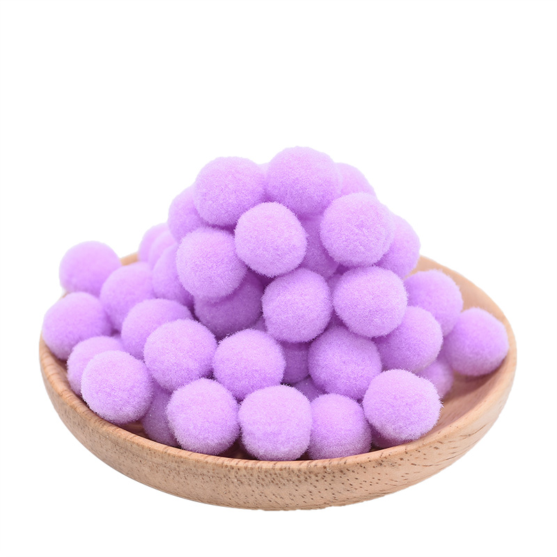 100Pcs/lot 15mm Multi-use DIY Soft Pompoms Balls Kids Toys Wedding Decoration Round Felt Balls Pom Poms Craft Sewing Accessories