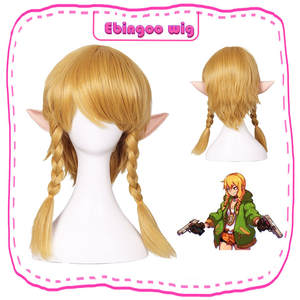 Ebingoo Cosplay Wig Synthetic-Hair Braids Female Women Hair-Cap Golden for Adults Costume