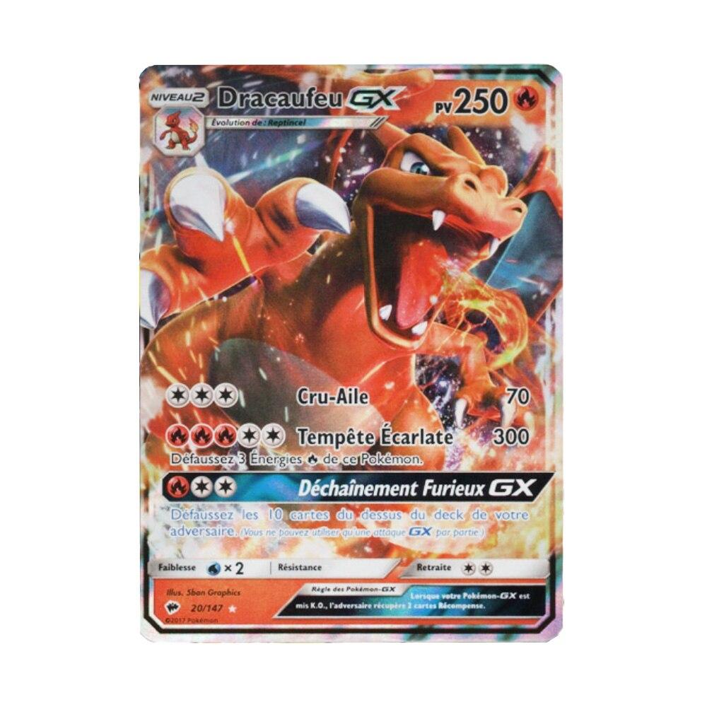 200 pièces Pokemons GX Carte française brillant TAKARA TOMY cartes jeu bataille Carte Trading enfants jouet