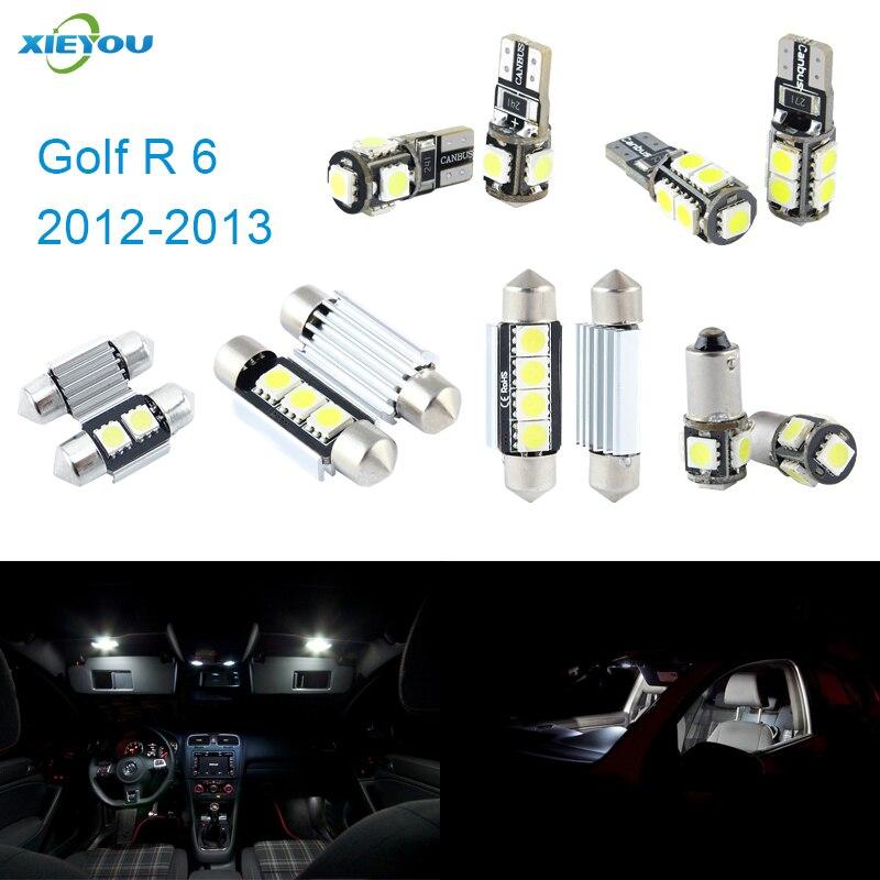 Balíček pro osvětlení interiéru Canbus LED 11ks pro VW Golf R MK6 (2012–2013)
