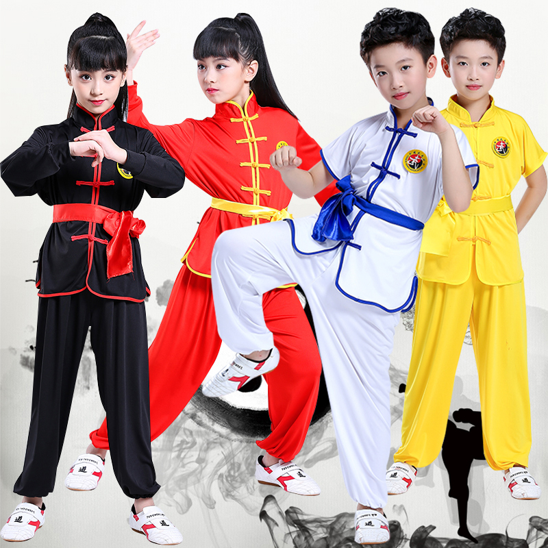 High Quality Girl Chinese Kung Fu Costume For Kid China Traditional Wushu Uniform Suit For Girl Kung Fu Suit Boy Kungfu Set