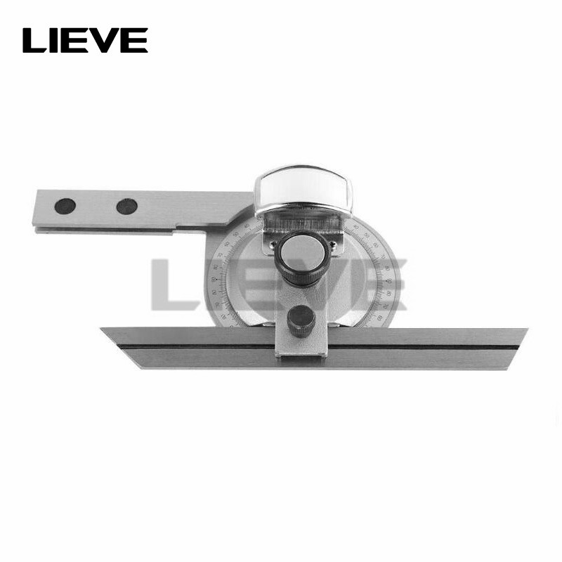 Universal Bevel Protractor Angle Finder 360 Degree Precision Angular Ruler with Magnifier Woodworking Measurement Tool