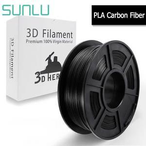 Нить из пла-углеродного волокна SUNLU для 3D-принтера, аналогичная металлическая текстура, 1 кг, с катушкой, 1,75 мм, сублимационные материалы