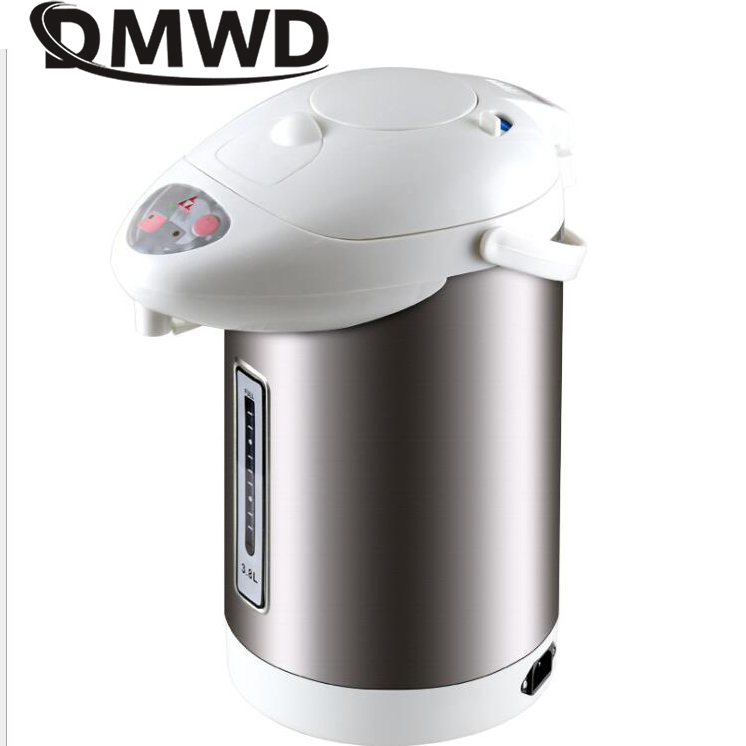 DMWD Thermal Insulation Electric Kettle Hot Water Heating Boiler 3L Stainless Steel Water Dispenser Heater Bottle Machine EU US