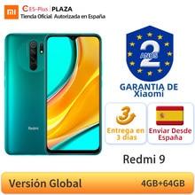 Version mondiale Xiaomi Redmi 9 4 go 64 go NFC Smartphone Helio G80 Octa Core 13MP Quad caméra 6.53
