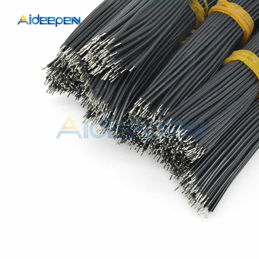 100 Pcs/lot UL1007 24AWG Double tête fil de soudure 8CM PVC câble électronique Certification UL étamé fil de cuivre câble de soudure