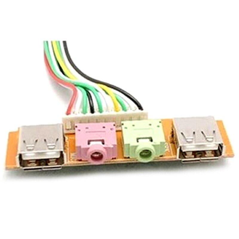 Accessoires d'ordinateur nouveau câble adaptateur Audio 2 USB, étui d'ordinateur 6.8cm, Port avant USB, câble d'écouteur de micro