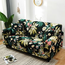 Nieuwe Plant Print Sofa Cover Bloemen Strakke Wrap Couch Cover Antislip L Stijl Sectionele Hoekbank Case fauteuil Protector