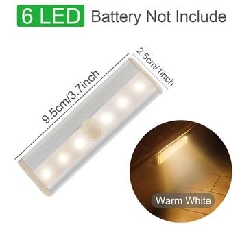Motion Sensor Wireless LED Night Lights Bedroom Decor Light Detector Wall Decorative Lamp Staircase Closet Room Aisle Lighting 11