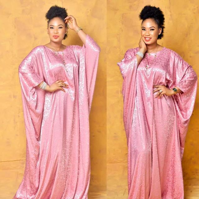 African Design Silk Dashiki Dress Muslim Abaya Length 150cm Print Bat Sleeve Fairy Maxi Robe Gowns Broder Riche Sexy Lady Party
