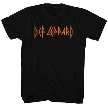 Def Lepard camiseta Logo negro camiseta