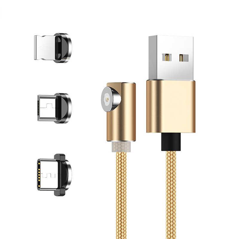 1M manyetik mikro USB kablosu iPhone Samsung için USB tipi C manyetik şarj kablosu USB cep telefonu kabloları