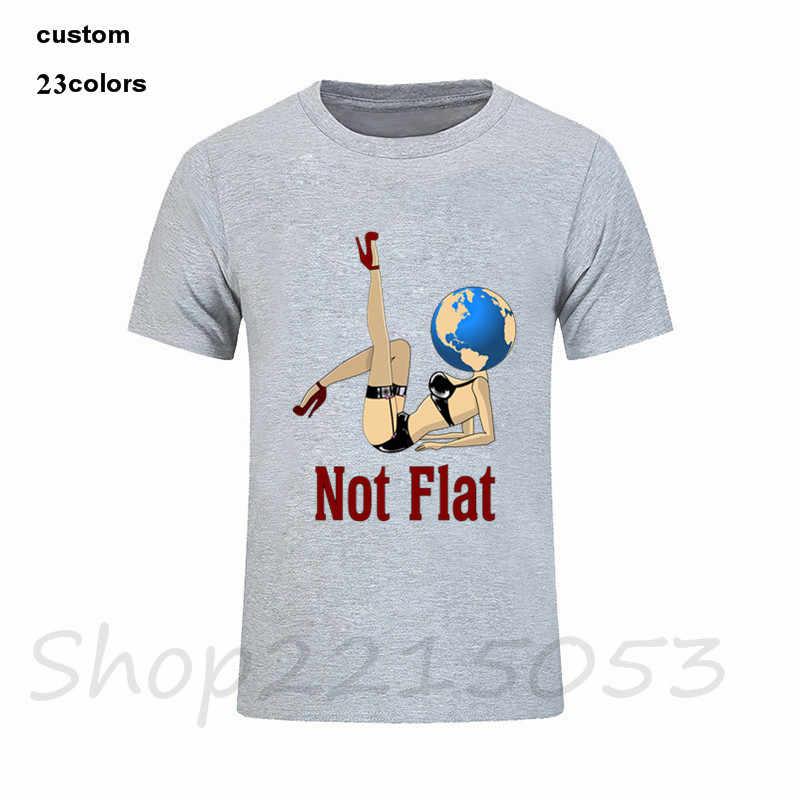 2020 แฟชั่น Earth Globe Hoax Conspiracy พื้นที่ Illuminati วิทยาศาสตร์ Planet ไม่แบนชายตลก T shirt ชาย TShirt เสื้อผ้าเสื้อยืด