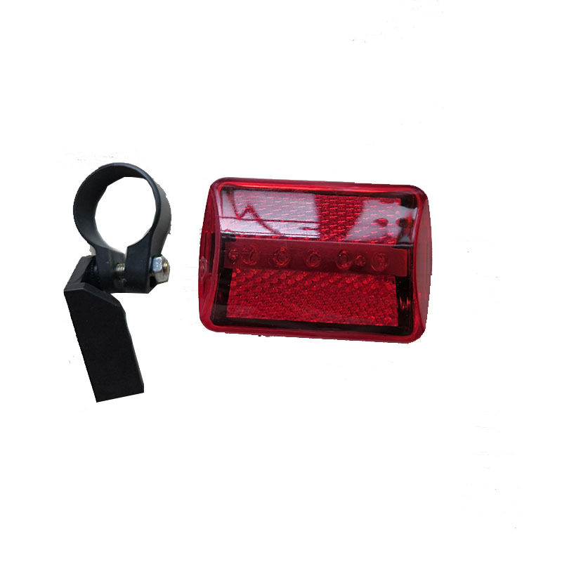 Cycling Bicycle Taillight Bike Rear Warning Lamp Flashing Alarm 2 Laser 5 LED FZ
