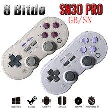 8bitdo – manette de jeu SF30 Pro SN30 Pro, sans fil, Bluetooth, contrôleur de jeu pour Nintendo Switch Android, Joystick, livraison directe