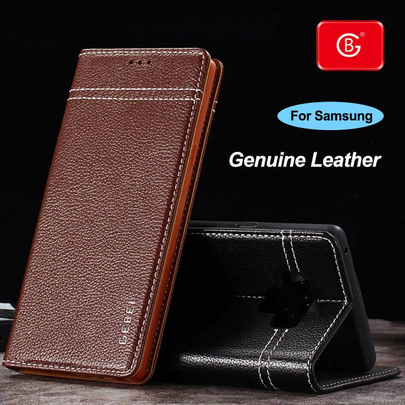 Cao Cấp Chính Hãng Bao Da Ví Da Cho Pin Galaxy Note 8 9 Note 10 Plus Điện Thoại Chống Sốc Bảo Vệ Lưng Lật bao Da Ốp Lưng