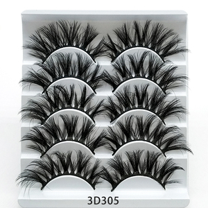 Image 4 - SEXYSHEEP 5pair 3D Faux Mink Eyelashes Natural False Lashes Wispy Makeup Beauty Extension Tools maquiagem faux cils