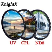 KnightX Filtro de lentes variables UV CPL ND Star para canon nikon photo 24 105 d5300 18 200 49mm 52mm 55mm 58mm 62mm 67mm 72mm 77mm
