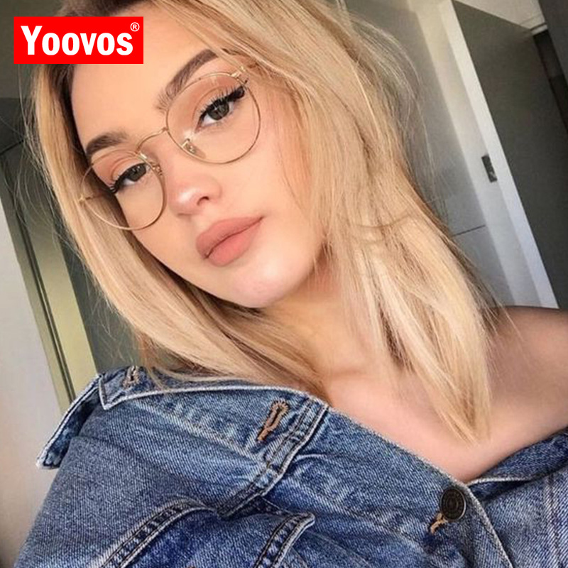 Yoovos 2021 Glasses Frame Women Luxury Round Eyeglasses Frames Vintage Brand Designer Okulary Blue Light Eyewear Gafas De Mujer