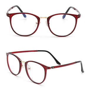 Image 5 - Anti blue ray blocking eyeglasses computer portable glasses TR90 combined metal square UV400 slim simple TV watching eyewear