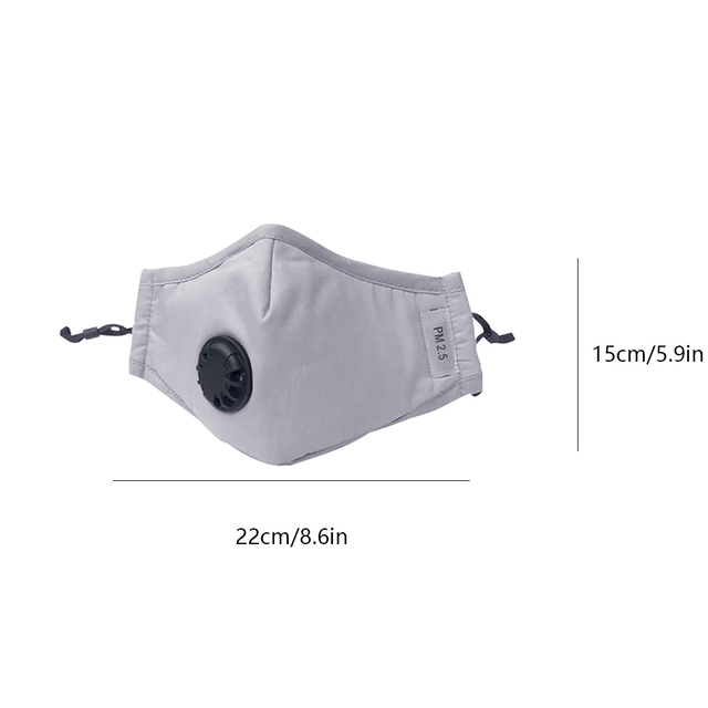 Bacteria proof Flu Face masks Care Cotton PM2.5 Black mouth Mask anti dust mask Activated carbon filter Windproof Mouth-muffle 4