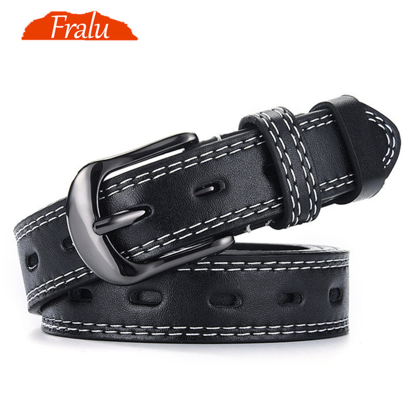 FRALU Pin Buckles   Belt   female deduction side gold buckle jeans wild   belts   for women fashion students simple New